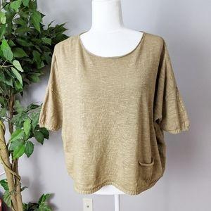 Eileen Fisher linen blend top